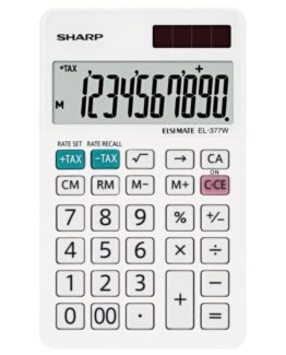 Desk Calculator SHARP EL-377W, 10 digit