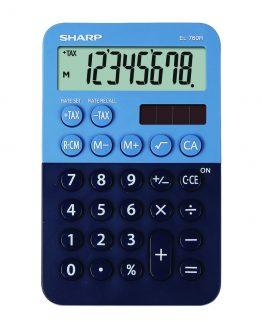 Desk Calculator SHARP EL-760R dark blue-light blue