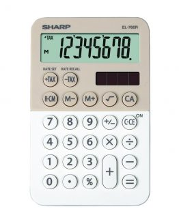 Desk Calculator SHARP EL-760R white-cappuccino