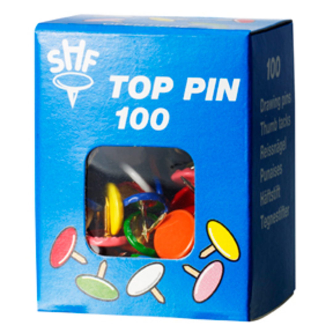 Drawing pins SHF ass colours (100)