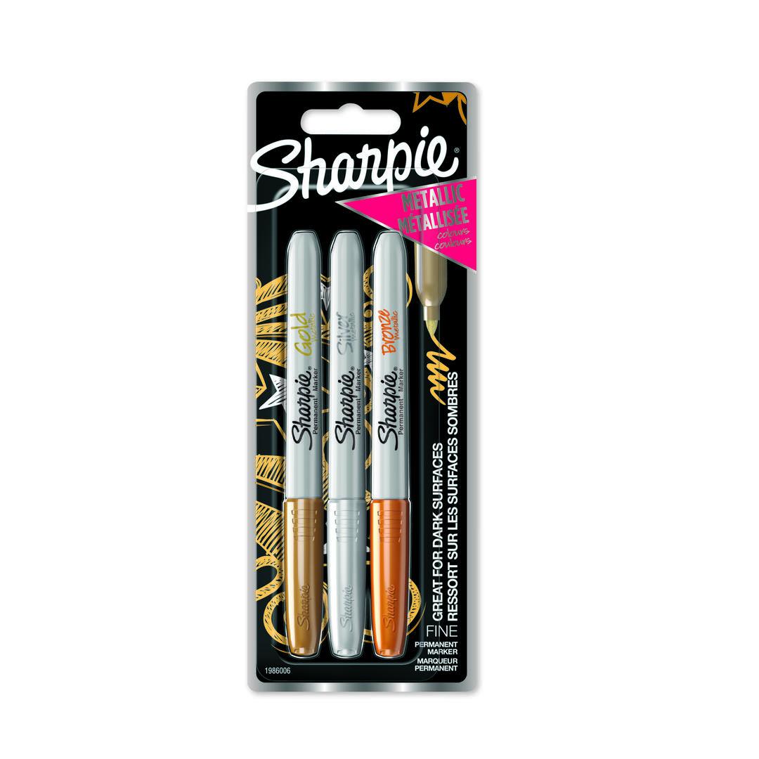 Marker Sharpie Metallic 1,4mm Gold/Silver/Bronze (3)