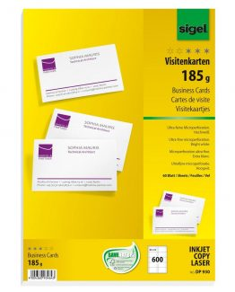 Business cards MICRO 185 gr 600 sheets