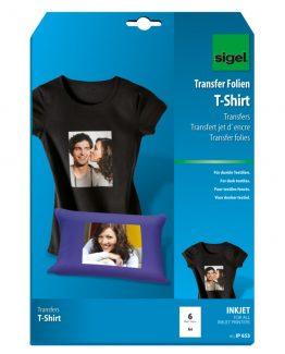 InkJet transf.T-Shirts black textil 6sh