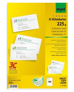 Business Card 3C 225gr bright white 100