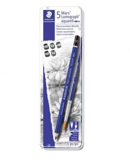 Pencil Mars Lumograph Aquarell+brush ass (5)