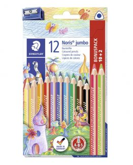 Coloured pencil Noris Jumbo triangular ass (10+2)