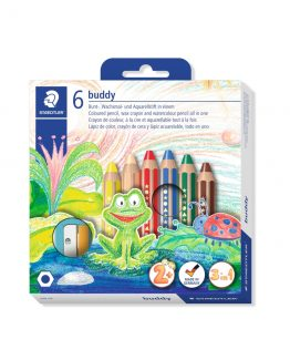 Coloured pencil Buddy chunky 3in1 (6)