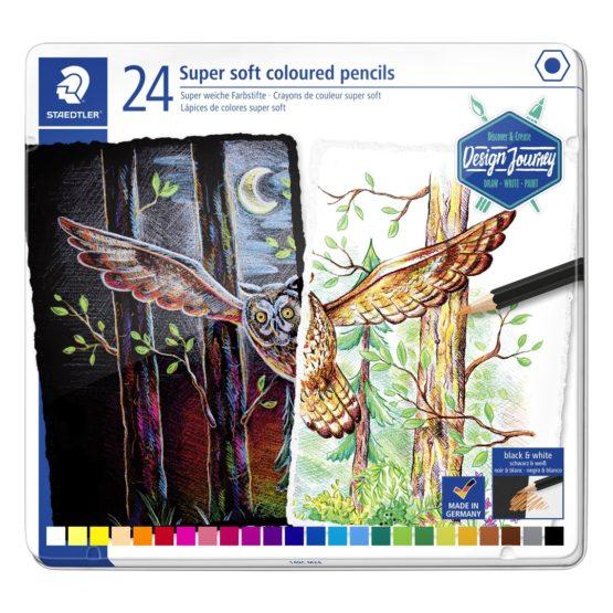 Coloured pencil Super Soft in box ass (24)