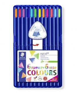 Coloured pencil Ergosoft ass (10+2)