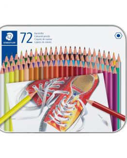 Coloured pencil hexagonal in metal boks (72)