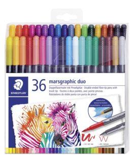 Fiber tip pen Marsgraphic Duo (36)