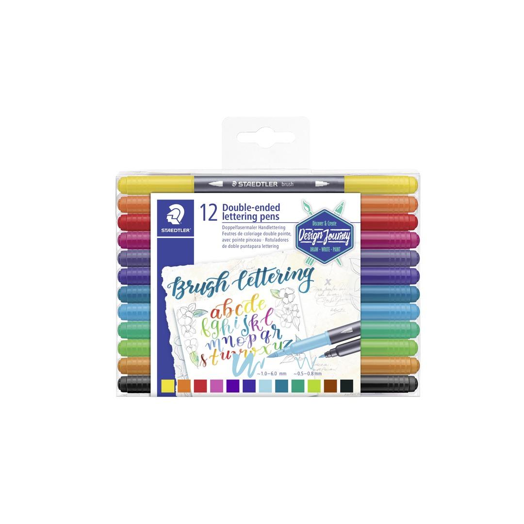 Brush lettering pens double (12)