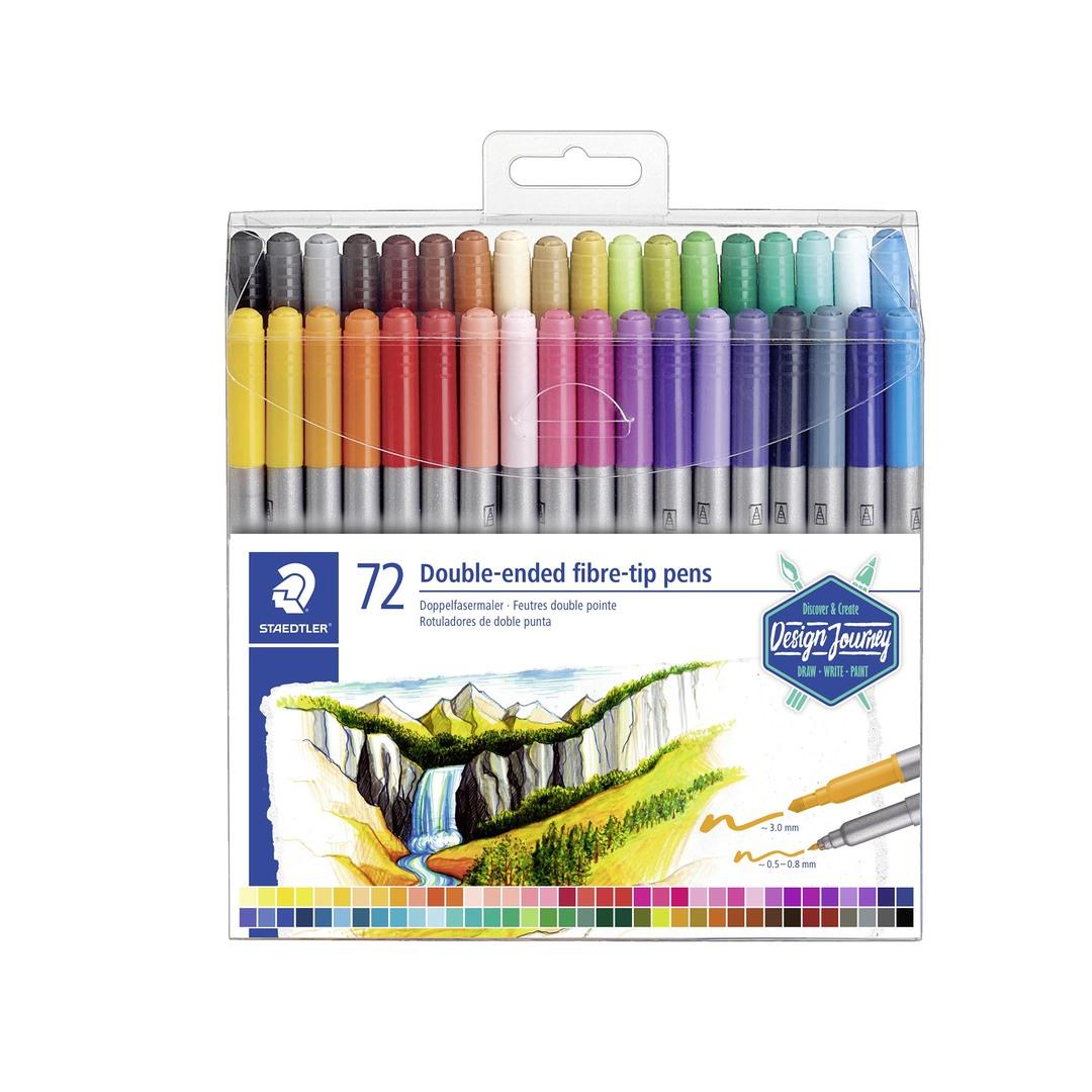 Double-ended fibre tip pens (72)
