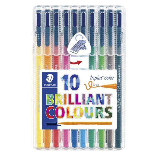 Fibre tip pen Triplus Color 1,0mm ass (10)