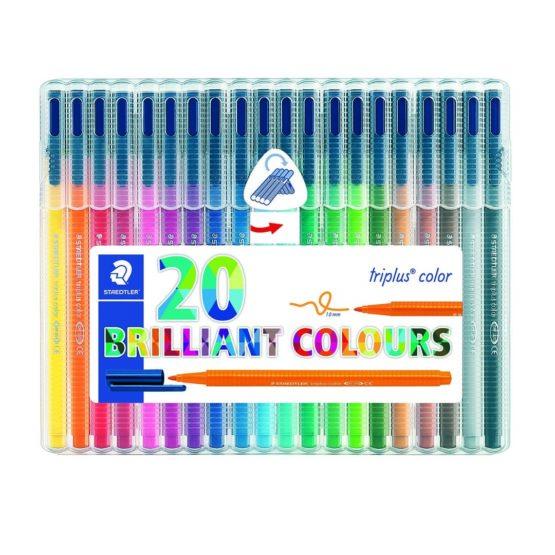 Fibre tip pen Triplus Color 1,0mm ass (20)