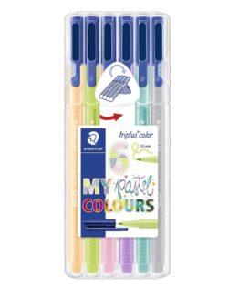 Fibre tip pen Triplus Color 1,0mm Pastel ass (6)