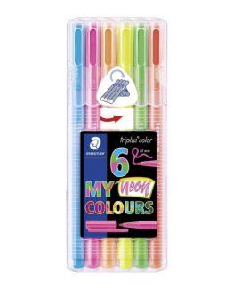Fibre tip pen Triplus Color Neon 1,0mm ass (6)