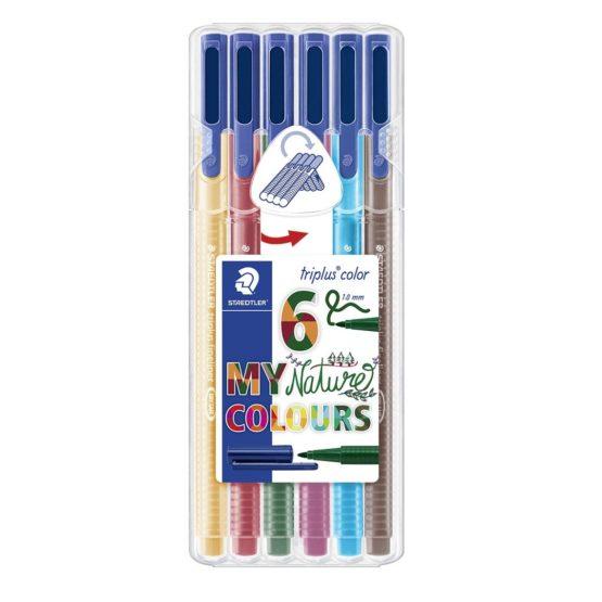 Fibre tip pen Triplus Color 1,0mm Nature ass (6)