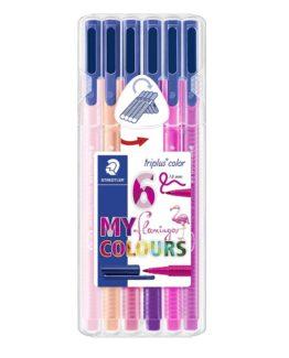 Fibre tip pen Triplus Color 1,0mm Flamingo ass (6)