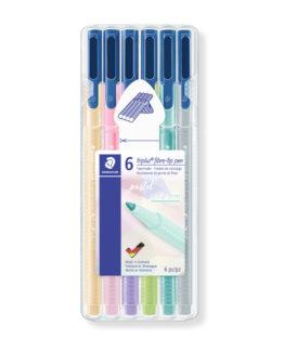 Fibre tip pen Triplus Color 1,0mm Pastel Line ass (6)