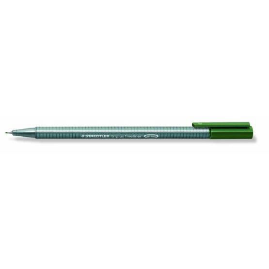 Fineliner Triplus 0,3mm green earth