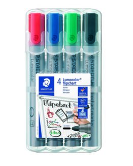 Marker Lumocolor flipchart bullet 2mm ass (4)