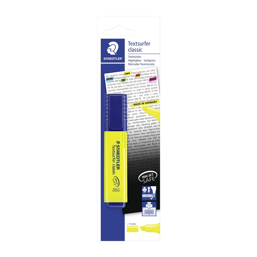 Highlighter Textsurfer yellow blister