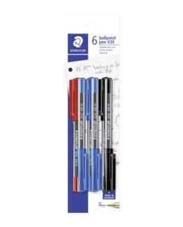 Ballpoint pen w/cap M ass blister (6)