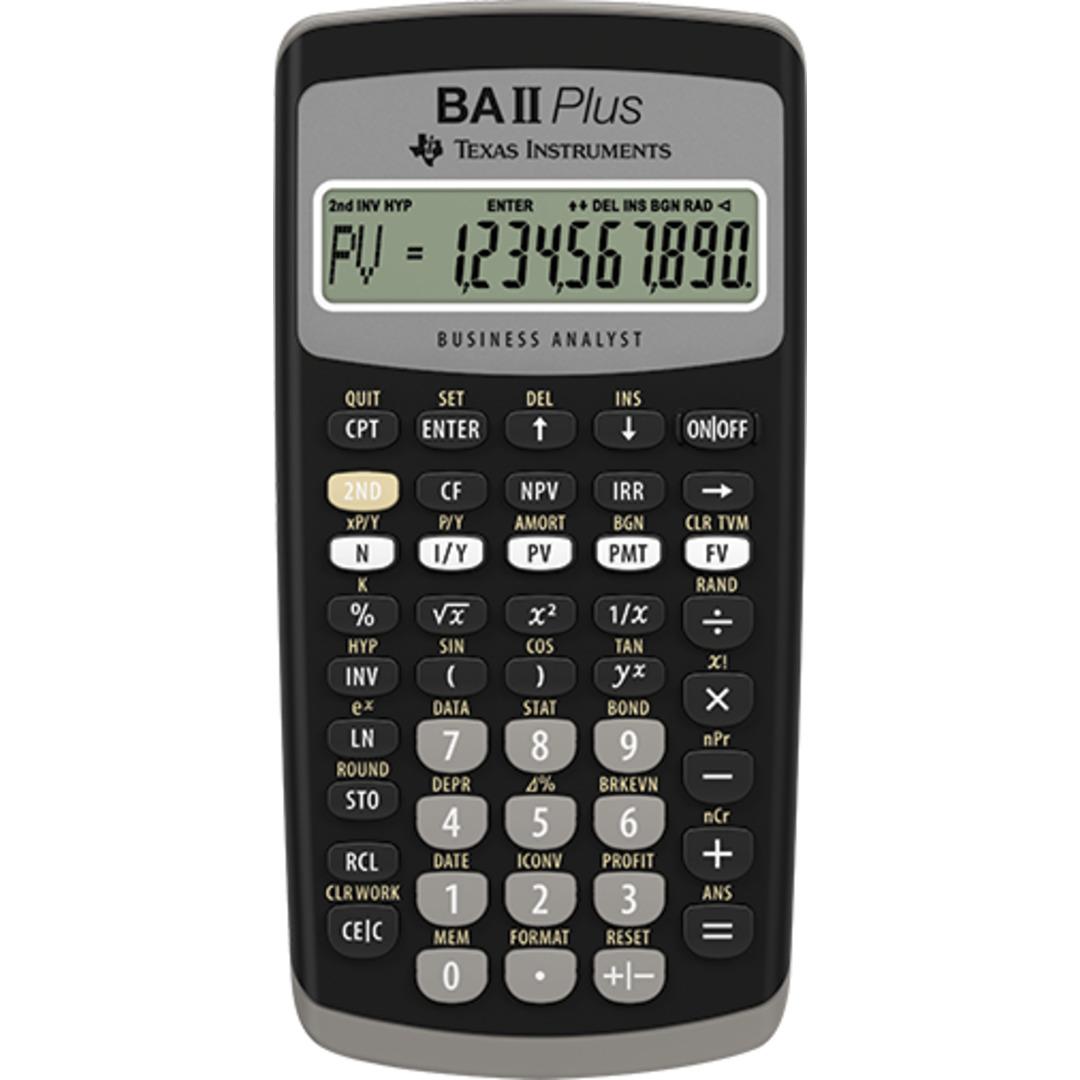 Texas BAII Plus financial calculator uk manual