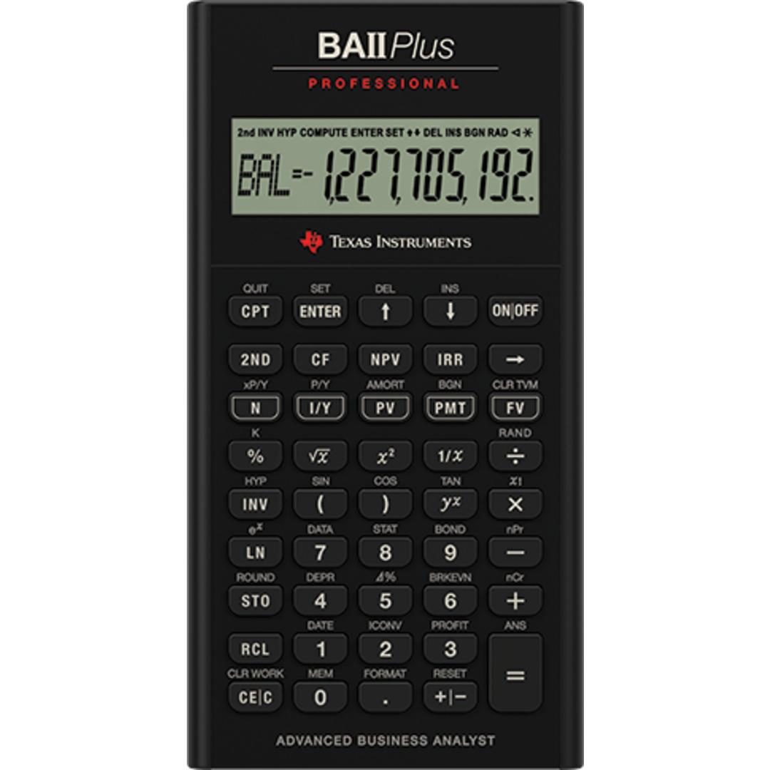 Texas BAII Plus Pro financial calculator uk manual