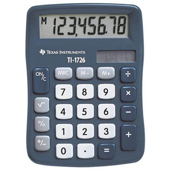 Texas TI-1726 solar calculator