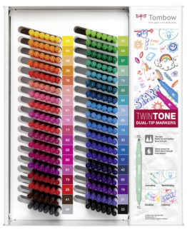 Marker Tombow TwinTone display contents 216 pcs