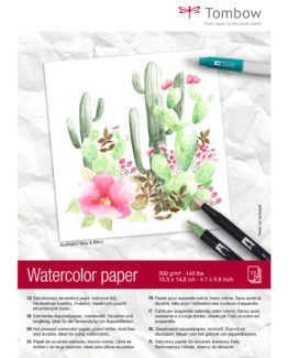 Tombow watercolour pad 10,5x14,8cm 300g 15 sheets