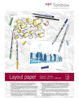 Tombow Layout drawing pad A4 75g 75 sheets