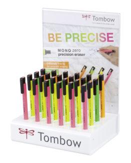 Tombow eraser pen MONO zero neon display w/24