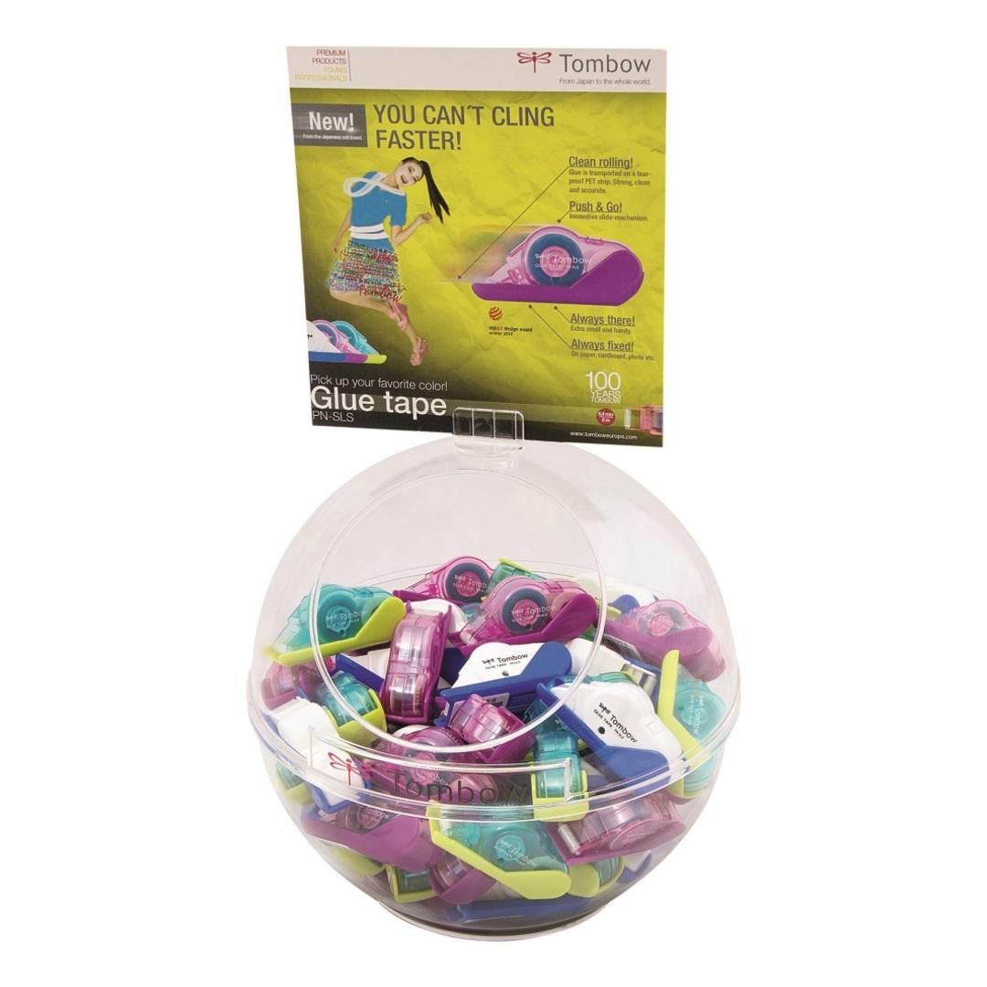 """Tombow glue tape mini permanent """"Fish Bowl"""" display w/60"""