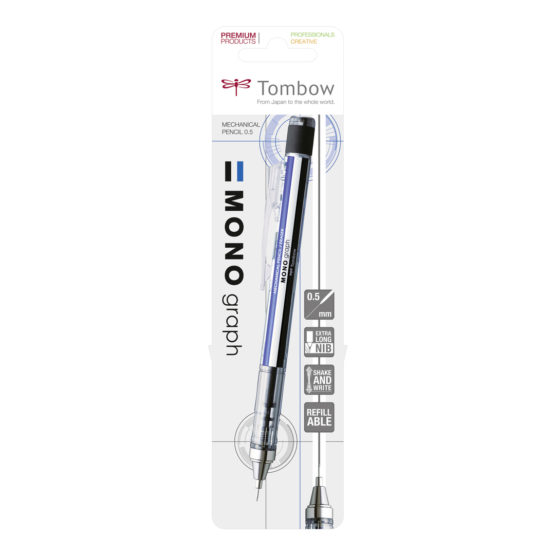 Tombow mechanical pencil MONO graph white blister
