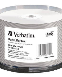 CD-R AZO, 52X, DL + Wide Thermal Printable (50)