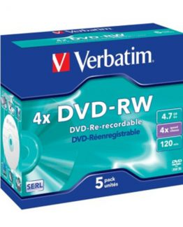 DVD-RW 4.7GB 4x Jewel Case (5)