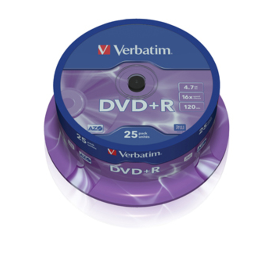 DVD+R 16x 4,7GB spindle (25)