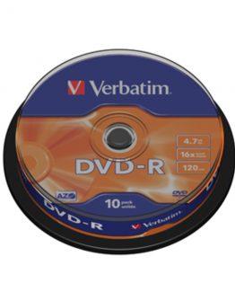DVD-R General, 16X, Branded Matt Silver (10)
