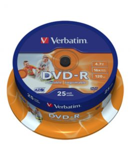 DVD-R 16x 4,7GB printable spindle (25)