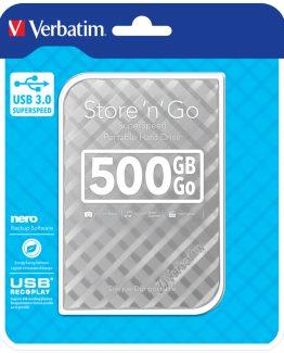 500GB Hard Drive 2,5'' Store 'N' Go USB 3.0, Silver