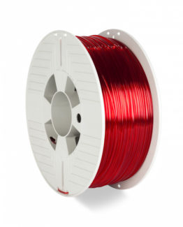 3D Printer Filament PET-G 1.75MM 1KG RED TRANSPARENT