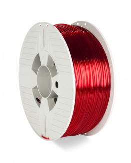 3D Printer Filament PET-G 2.85MM 1KG, Red Transparent