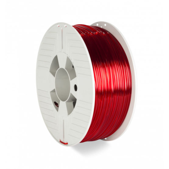 3D Printer Filament PET-G 2.85MM 1KG, Red Transparent