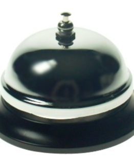 Table bell round black/silver