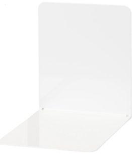 Metal bookends white Wedo 2/set
