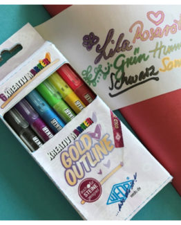 Kreative outliner pen assorted (6) Guld