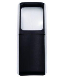 Magnifier square illuminated black Wedo